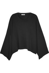 Jil Sander Oversized Cropped Knitted Sweater Black