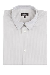 A.P.C. Cotton Micro Stripe Long Sleeve Shirt Stripes