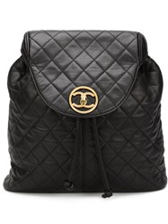 Chanel Vintage Quilted Backpack Black