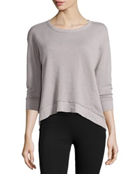 W By Wilt Cropped Slouchy Knit Sweatshirt Elephant