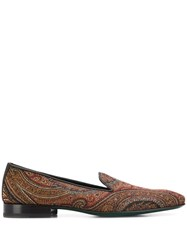Etro Paisley Loafers Brown