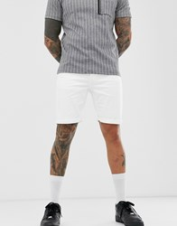 Only And Sons Denim Shorts In White