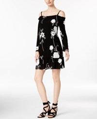 Inc International Concepts Petite Floral Print Cold Shoulder Dress Only At Macy's Floral Wave Embroidered