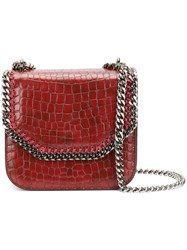 Stella Mccartney Falabella Shoulder Bag Women Artificial Leather One Size Red