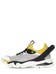 Calvin Klein 205W39nyc Carlos 10 Leather And Mesh Sneakers Multicolor