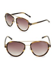 3.1 Phillip Lim 58Mm Speckled Aviator Sunglasses Brown
