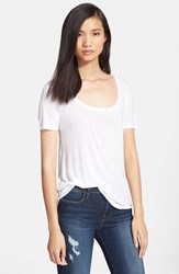 Women's Atm Anthony Thomas Melillo 'Sweetheart' Modal Tee White