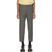 Ami Alexandre Mattiussi Grey And Black Cropped Trousers
