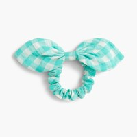 J.Crew Bow Hair Tie In Gingham