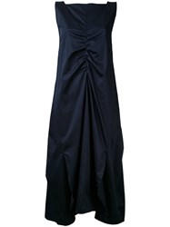 Eudon Choi Gathered Front Dress Blue