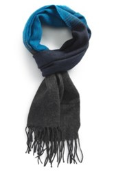 The Rail Ombre Scarf Blue