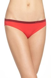 Calvin Klein Women's 'Pure' Seamless Bikini Evocative Red