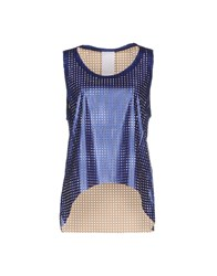 Luxury Fashion Topwear Vests Women Blue