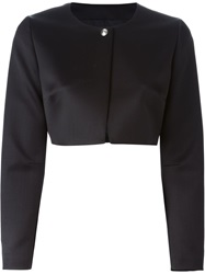 Fausto Puglisi One Button Cropped Jacket Black