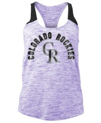 5Th And Ocean Women's Colorado Rockies Space Dye Tank Purple Black
