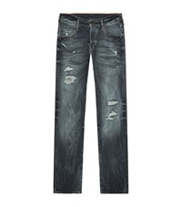 True Religion Distressed Rocco Skinny Jeans Male Midnight