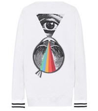 Undercover Embroidered Cotton Sweatshirt White