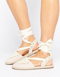 Head Over Heels By Dune Giah Tie Detail Espadrilles Nude Beige