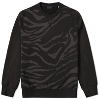 Lanvin Zebra Print Crew Sweat Black