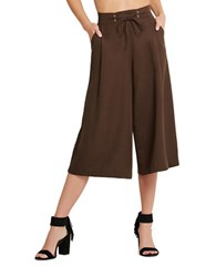 Bcbgeneration Pleated Drawstring Culottes Brown