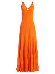 Raey Multi Seam Twist Strap Silk Dress Orange