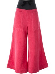 Ter Et Bantine Flared Trousers Pink And Purple