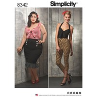 Simplicity Women's Retro Top And Skirt Sewing Pattern 8342