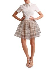 Tba Fit And Flare Blouse Dress White