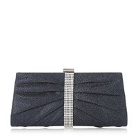 Roland Cartier Bellvia Diamante Trim Sparkly Clutch Bag Blue