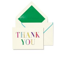 Kate Spade Thank You Notecard Set Rainbow Prism