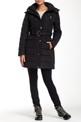 Tommy Hilfiger Down Jacket With Faux Fur Trim Black