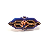 Anisha Parmar London Empress Ring Red Blue Gold