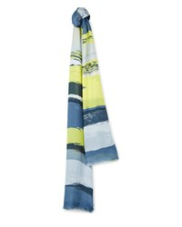 Jaeger Highlight Painted Print Scarf Grey