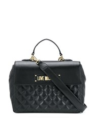Love Moschino Quilted Box Tote Black