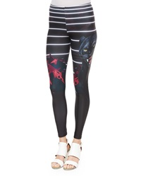 We Are Handsome Avenger Printed Neoprene Leggings
