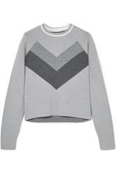 Lndr Flare Striped Merino Wool Sweater Gray