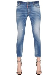 Dsquared Twiggy Cropped Medium Waist Denim Jeans