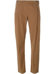 Stephan Schneider Leather Trimmed Trousers Brown