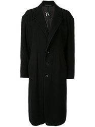 Y's Single Breasted Coat Black