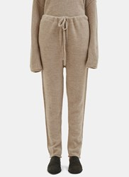 Lauren Manoogian Arch Knitted Track Pants Beige