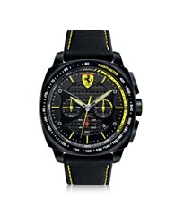 Ferrari Aero Evo Black And Yellow Stainless Steel Case And Nylon Strap Men's Watch