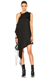 Ann Demeulemeester Off The Shoulder Tunic In Black