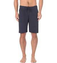 Hanro Cotton Sweat Shorts Navy