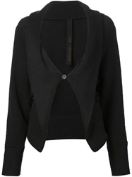 Forme D'expression One Button Cardigan Black