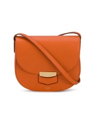 Celine Small Trotteur Bag Yellow And Orange
