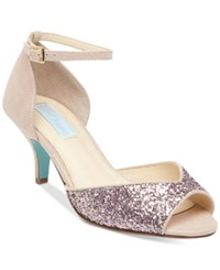 Blue By Betsey Johnson Rita Ankle Strap Evening Sandals Women's Shoes Blush