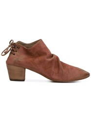 Marsell Chunky Heel Ankle Boots Women Leather Suede 36 Brown