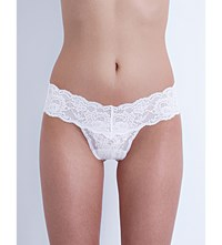 Cosabella Never Say Never Cutie Stretch Lace Thong White