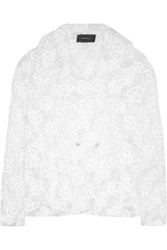 Simone Rocha Vinyl And Embroidered Tulle Jacket White