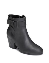 Aerosoles Inevitable Leather Zipped Ankle Boots Black